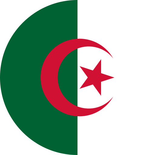 algeria, country, flag, world icon