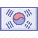 flags, korea, rectangle, south, south korea, south korea flag icon