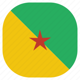 country, flag, french, guiana, national icon