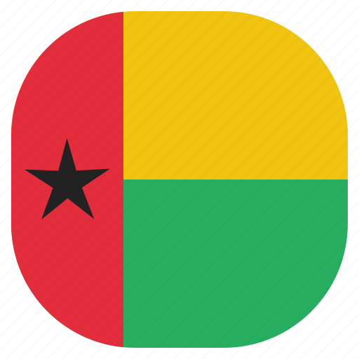 bissau, country, flag, guinea, national icon