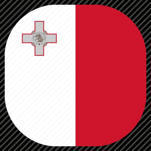 country, flag, malta, national icon