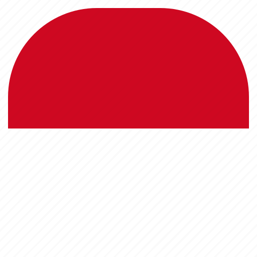 country, flag, monaco, national icon
