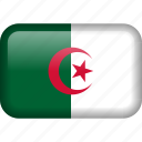 algeria, country, flag icon