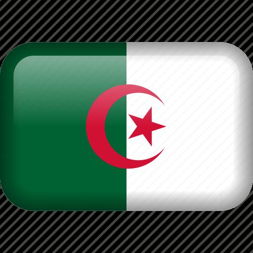 algeria, country, flag icon