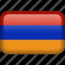 country, flag, armenia icon