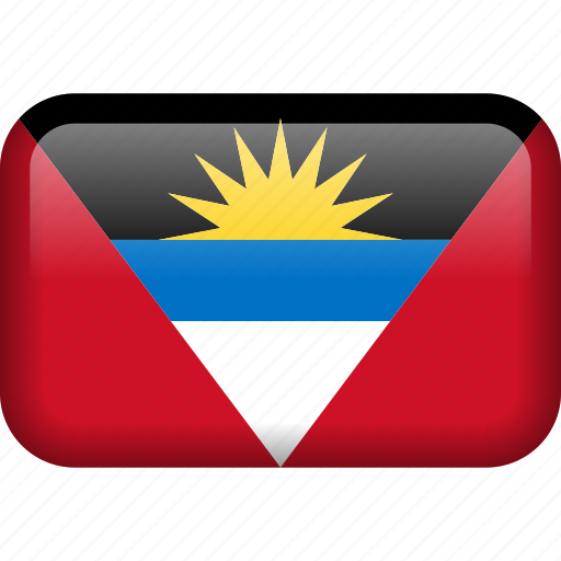 antigua and barbuda, country, flag icon