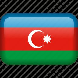 azerbaijan, country, flag icon
