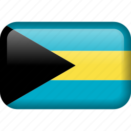 bahamas, country, flag icon