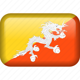 bhutan, country, flag icon