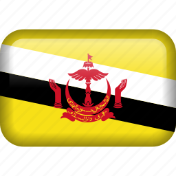 brunei, country, flag icon