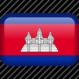 cambodia, country, flag icon
