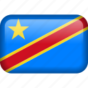 congo, country, democratic republic of the congo, flag icon
