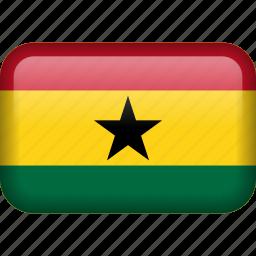 country, flag, ghana icon