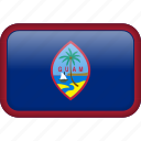country, flag, guam icon