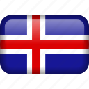iceland, country, flag, national
