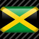 country, flag, jamaica icon