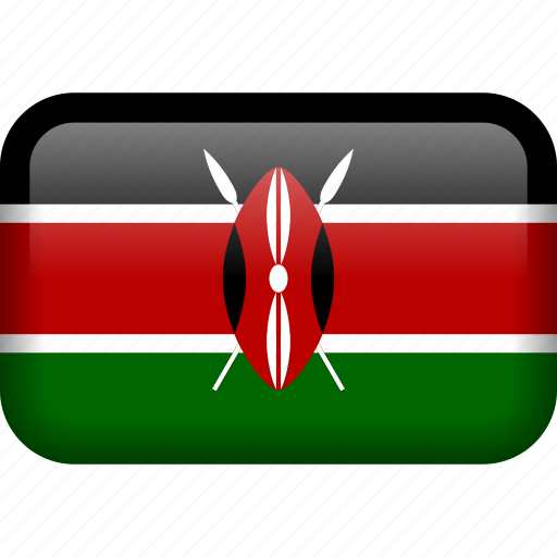 country, flag, kenya icon
