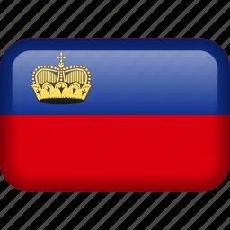 country, flag, liechtenstein icon