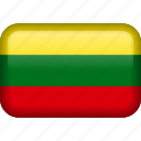 country, flag, lithuania icon