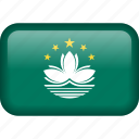 country, flag, macau icon