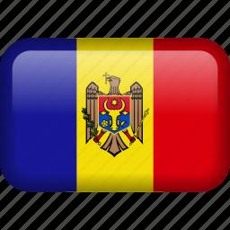 country, flag, moldova icon