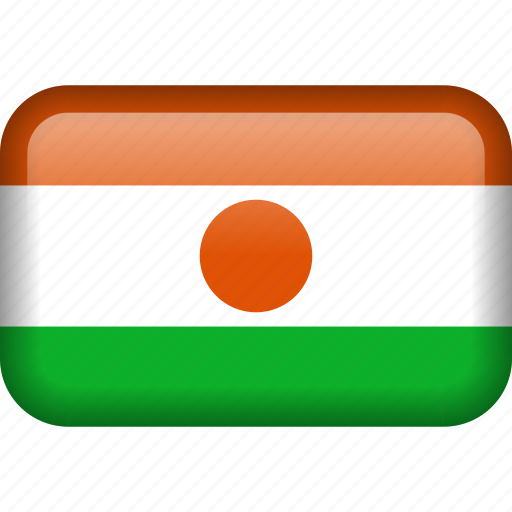 country, flag, niger icon