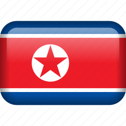 country, flag, korea, north korea icon