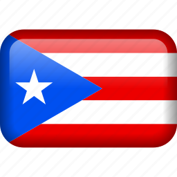 a, country, flag, puerto rico icon