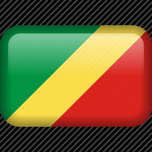 congo, country, flag, republic of the congo icon