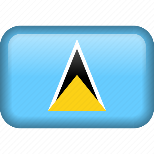 country, flag, saint lucia icon