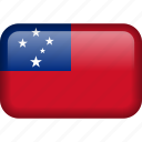 samoa, country, flag icon