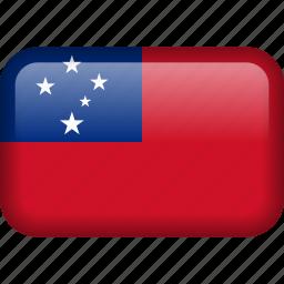 country, flag, samoa icon