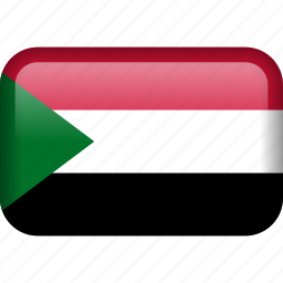 country, flag, sudan icon