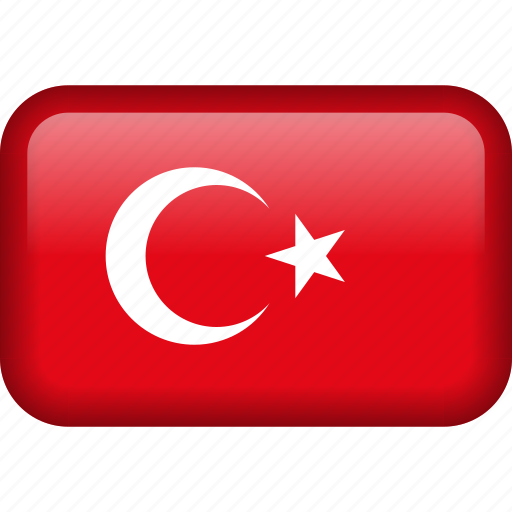 country, flag, turkey icon