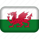 country, flag, wales icon
