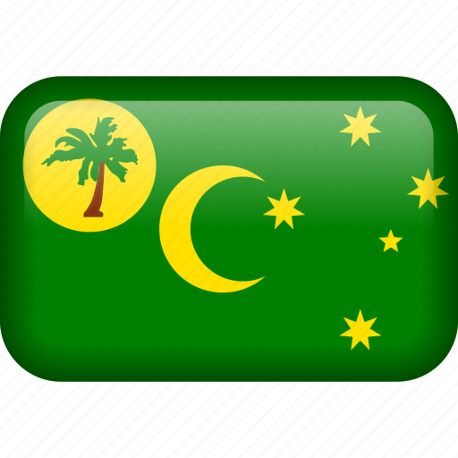 cocos, cocos islands, country, flag icon
