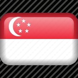 country, flag, singapore icon