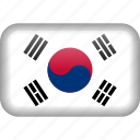 korea, south korea, country, flag icon