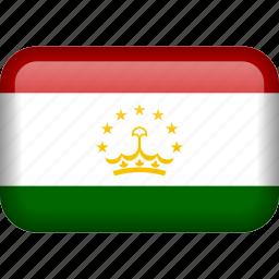 country, flag, tajikistan icon