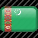 turkmenistan, country, flag