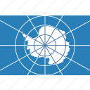 antarctica, circle, flag, treaty icon