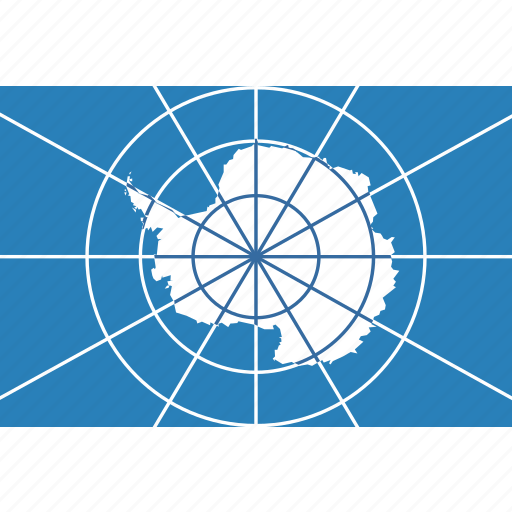 antarctica, circle, flag, treaty icon