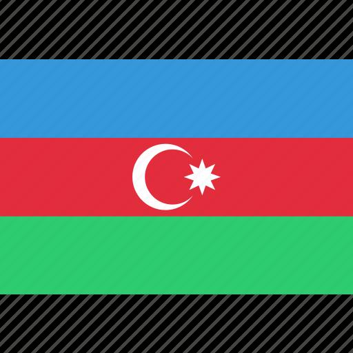 azerbaijan, country, flag, national icon