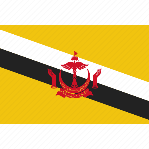 brunei, country, flag, national icon