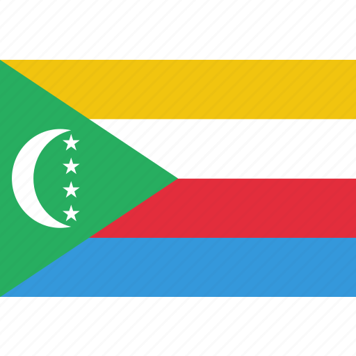 comoros, country, flag, national icon