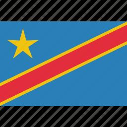 congo, country, democratic, flag, national icon