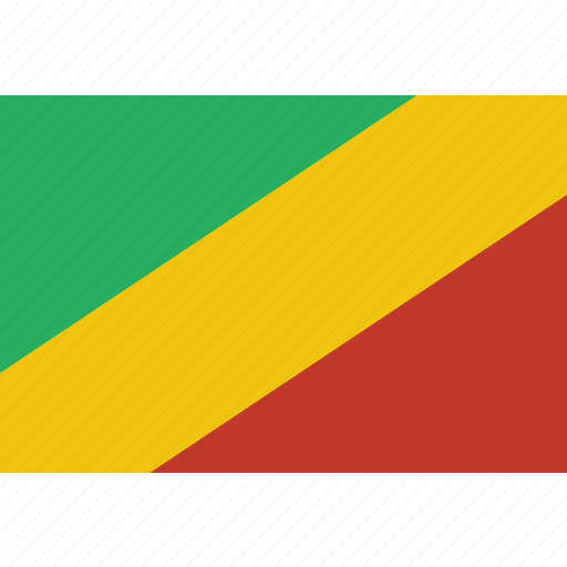 congo, country, flag, national icon