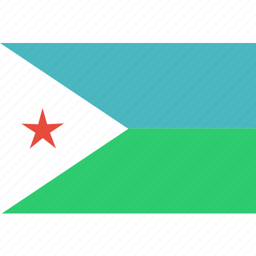 country, djibouti, flag, national icon
