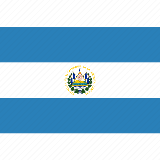 country, el, flag, national, salvador icon