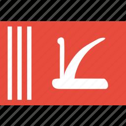 and, flag, jammu, kashmir icon